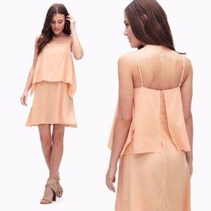 Splendid Rayon Voile Tank Dress Peach Orange